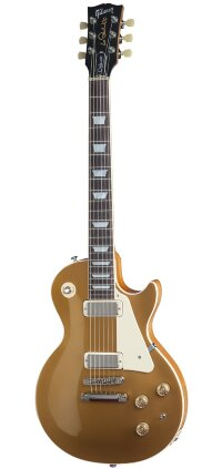 GIBSON USA LES PAUL DELUXE 2015 METALLIC GOLD TOP электрогитара с кейсом, цвет голдтоп