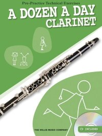 A DOZEN A DAY FOR CLARINET CLT BOOK/CD