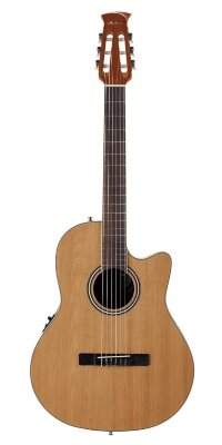 APPLAUSE AB24CII-CED Balladeer Mid Cutaway Nylon Natural Satin электроакустическая гитара