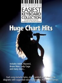 EASIEST KEYBOARD COLLECTION HUGE CHART HITS KEYBOARD BOOK